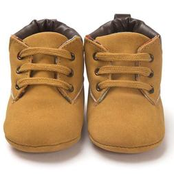 Unisex Baby Toddler Soft Sole Leather Shoes Infant Boy Girl