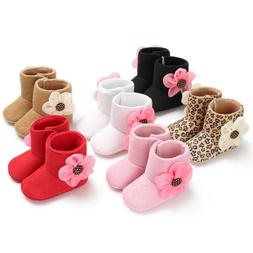 US Baby Girl Boy Soft Sole Booties Snow Boots Infant Toddler
