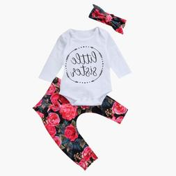 us baby girls little sister bodysuit tops