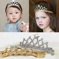US Hair Accessories Baby Girl Crown Hairband Toddler Headban