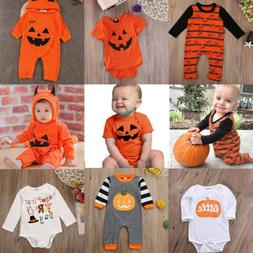 US Happy Halloween Outfits Newborn Infant Kids Baby Girl Boy