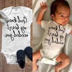 US Infant Baby Boy Girl Romper Bodysuit Jumpsuit Summer Clot