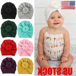 US Infant Baby Turban Toddler Kids Boy Girl Cotton Blends Ha