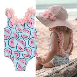 US Toddler Baby Girl Watermelon Bikini Swimsuit Swimwear Bat