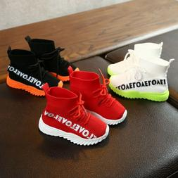 Kids Toddler Infant Baby Boys Girls Mesh Boots Sport Shoes S