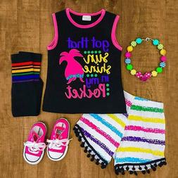 US Kids Toddler Baby Girl Clothes Romper Bodysuit+Short Pant