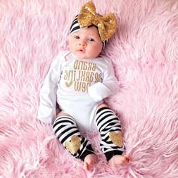US Newborn Infant Baby Girls Outfit Clothes Romper Jumpsuit