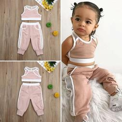 US Newborn Toddler Baby Girl Summer Clothes Vest Crop Tops P