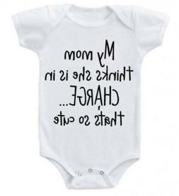 US STOCK Baby Girl Boy Infant Romper Bodysuit Jumpsuit Outfi