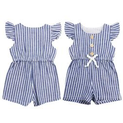 US STOCK Cute Toddler Baby Girl Summer One-piece Romper Jump
