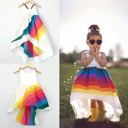 US Stock Girls Princess Dress Kids Baby Party Pageant Casual