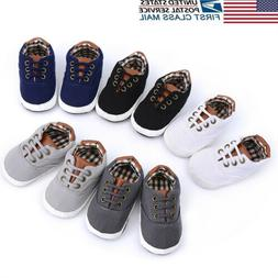 US STOCK Infant Baby Boy Girl Cute Boots Anti-slip Sneakers