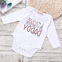 US Stock Newborn Baby Boy Girl Romper Bodysuit Autumn Infant