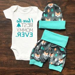 US Stock Newborn Baby Boys Girl Romper Pants Bodysuit Sunsui