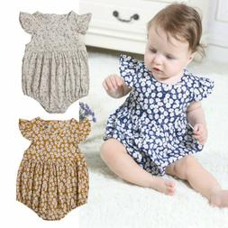 US Stock Toddler Baby Girl Clothes Jumpsuit Romper Bodysuit