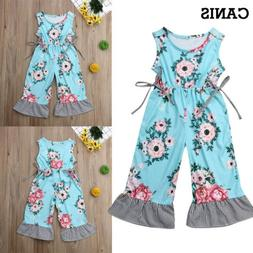 US STOCK Toddler Kid Baby Girls One Piece Jumpsuit Romper Ca