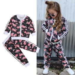 US Toddler Baby Girl Clothes Sweatshirt Tops Pants Infant Ou