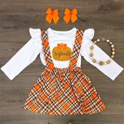 US Kid Infant Baby Girl Halloween Pumpkin Clothes Top Strap