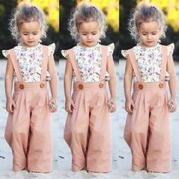 US Toddler Kids Baby Girl Summer Outfit Clothes T-shirt Tops
