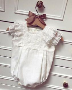 US Toddler Kids Baby Girls Princess One Piece Jumpsuit Rompe