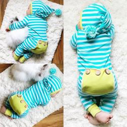 USA Newborn Baby Boys Girls Romper Bodysuit Jumpsuit Outfits