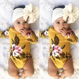 USA Newborn Infant Baby Girls Romper Playsuit Bodysuit Outfi