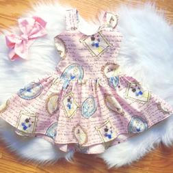USA Newborn Kid Baby Girl Snow White Backless Princess Party