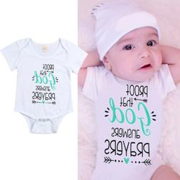 USA Stock Infant Newborn Baby Boy Girl Romper Clothes Outfit