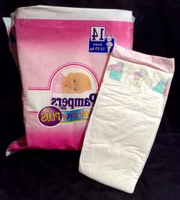 Vintage Pampers Phases Baby-Dry Plus Diaper Sz Junior for Gi
