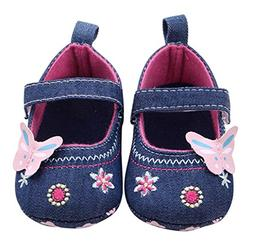 Voberry® Baby Girls Soft soled Butterfly Crib Moccasins Can