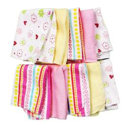 Spasilk Washcloths, Pink Stripes, 10 Count