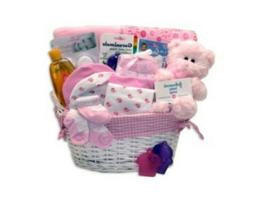 Welcome New Baby - Baby Shower Gift Basket - Baby Girl