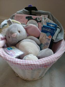Welcome New Baby - Girl Baby Shower Gift Basket