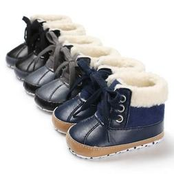 Winter Warm Baby Girl Boy Shoes Snow Boots Toddler PU Waterp